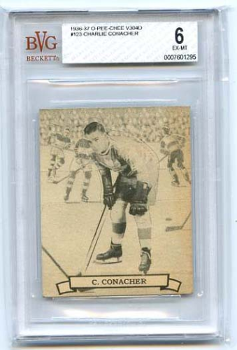 Charlie Conacher  1936-37 NHL O-Pee-Chee V304D #123    Beckett graded 6 EX-MT