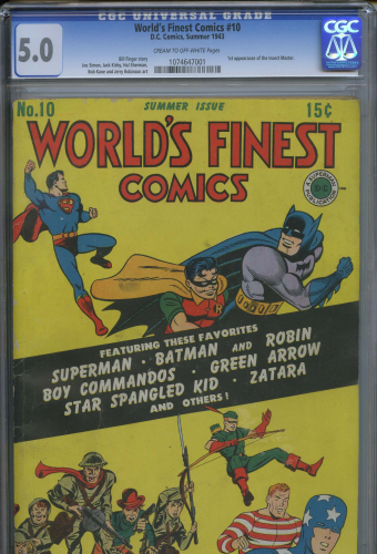 World's Finest Comics #10  (1943)  CGC 5.0