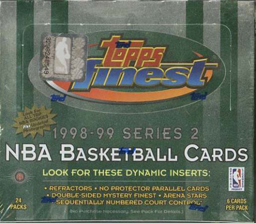 NBA 1998-99 Series Two Topps Finest Wax Box (24 packs)