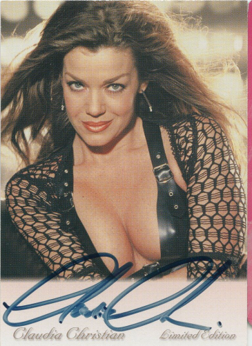 Claudia Christian Autograph (starred in  Babylon 5: Commander Ivanova)