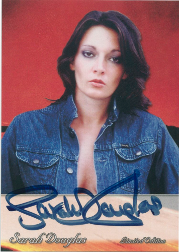 Sarah Douglas Official Autograph Card #SD1