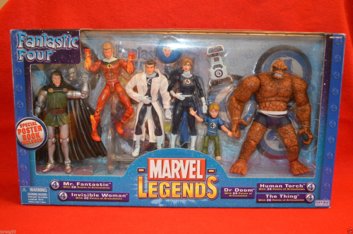 Fantastic Four A/F 2004 Marvel Legends Variant Set Boxed Set