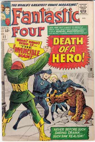 Fantastic Four # 32 (1964) F/F+ Death of Franklin Storm