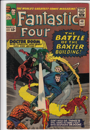 Fantastic Four # 40 (1965)  F/F- Early Daredevil app.,  Doctor Doom story