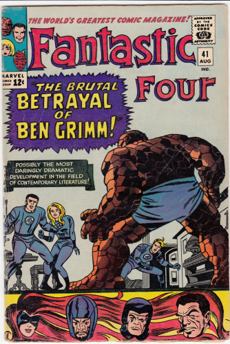 Fantastic Four # 41 (1965) F/F-   Thing Joins the Frightful Four