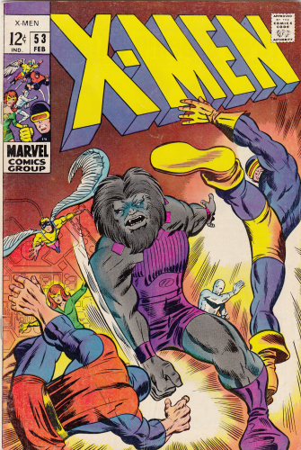 X-men # 53 (1969) F/VF Barry Smith 1st comic work