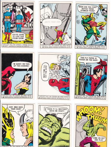 Marvel Superheroes 1966 Donruss Trading Card Set