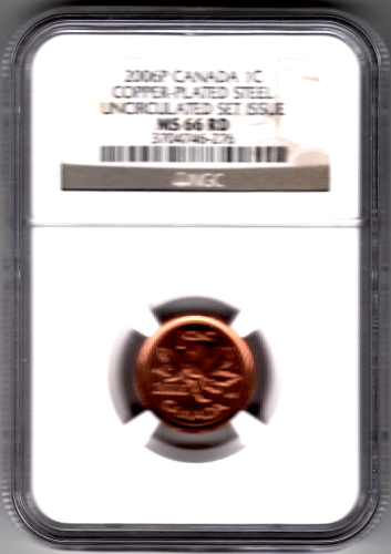 Canada 2006P 1cent magnetic NGC MS 66 RD