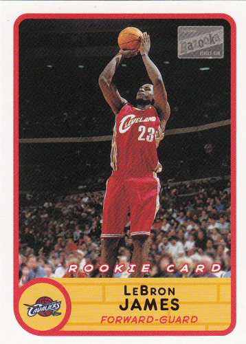 LeBron James (rookie)  2003 NBA Bazooka #223 (away)
