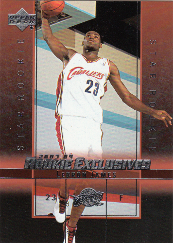 LeBron James (rookie) 2003 NBA UD Rookie Exclusives #1