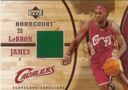 LeBron James 2006/07 NBA Hardcourt  GF22 Game Used Jersey Swatch
