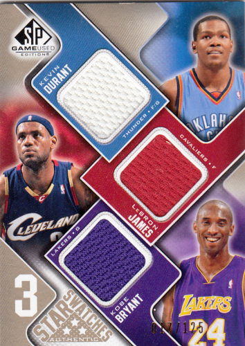 LeBron James/Kevin Durant/Kobe Bryant  2009/10 NBA SP Game Used #35-BJD