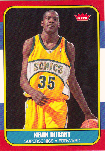 Kevin Durant (rookie) 2007/08 NBA Fleer #86R-143