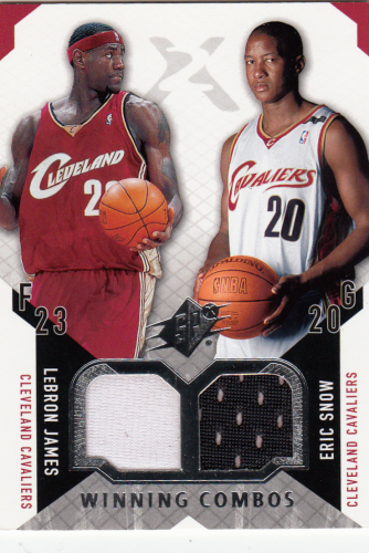 LeBron James/Eric Snow 2004/05 NBA SPx  Duel Jersey